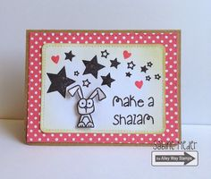 TAWS, The Alley Way Stamps, Tada, Now you see Me, cards, clear stamps, Sabine