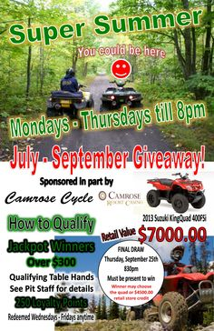 We're giving away a Quad in September!