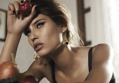 Bianca Balti for Dolce & Gabbana-love the 60's style make up