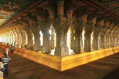 Pillar corridors of Rameshwaram