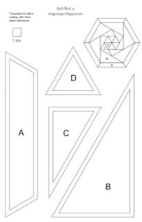 free quilt block pattern and english paper piecing templates ... : quilting paper templates - Adamdwight.com