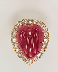 Van Cleef & Arpels ruby and diamond ear pendants owned by Jacqueline Kennedy Onassis