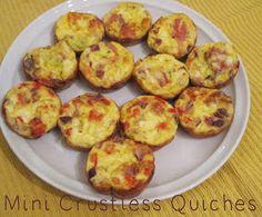 Slimming World Recipe Style : Mini Crustless Quiches