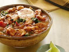 Pork-and-Pumpkin Chili by Food Network for the annual chili cook-off.