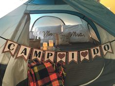 "Camping theme bridal shower""Camp I Do"""