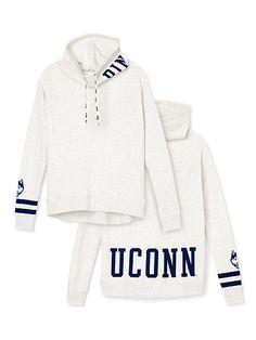 UCONN Cowl-Neck Pullover PINK
