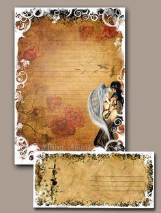 Stationery - Urban Fallen Angels  -  Fantasy Art