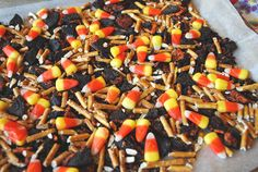 Candy Corn Bark by yourhomebasedmom, via Flickr