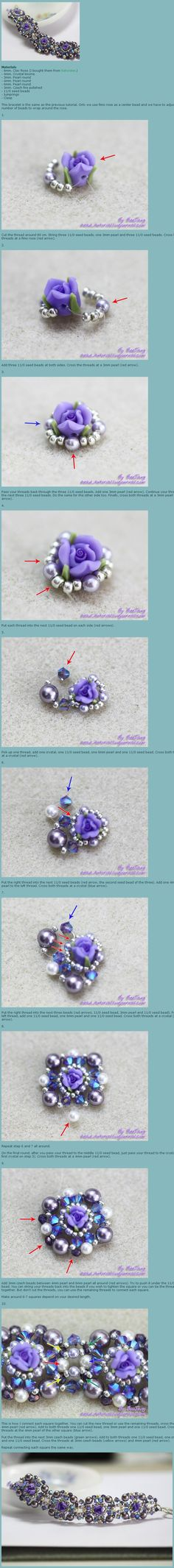 rose bracelet tutorial