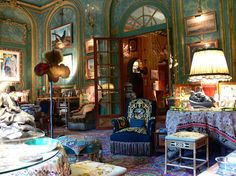 Left Bank apartment of Count and Countess Hubert d'Ornano.  Another view of the Grand Salon looking towards the entrance gallery.