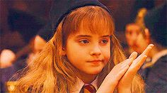 I love Harry Potter. I love GIFs. I love Hermione Granger cuz she's a savage witch.