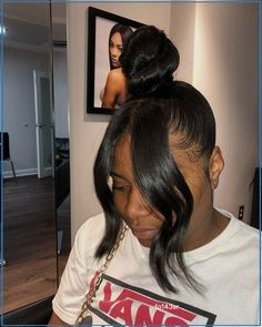 Hair Ponytail Styles, Weave Ponytail Hairstyles, Curly Hair Styles, Natural Hair Styles, Curly Ponytail Weave, Side Ponytails, Black Hairstyles With Weave, Uk Hairstyles, Shaved Side Hairstyles