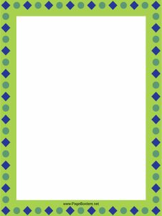 Blue and green border