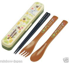 My Neighbor Totoro Spoon & Chopsticks & Fork Set TAC1 With Case Bento JAPAN