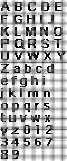 Quick Type Alphabet (8 Stitches Tall)