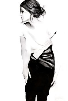 Fashion, painted using ink