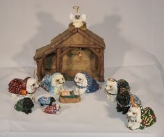 Collectible Heaven's Paws Poodle Nativity Set 12 PC | eBay Who doesn't need a Poodle Nativity set??