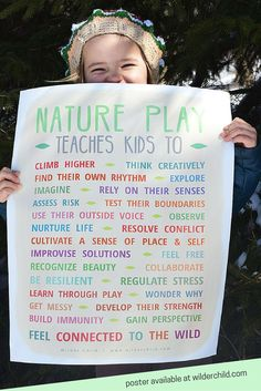 Ideas of activities to do outdoor with the kiddos. Poster showing the benefits . - day care - Ideas of activities to do outdoor with the kiddos. Poster showing the benefits of playing outside! Forest School Activities, Nature Activities, Activities To Do, Indoor Activities, Summer Activities, Outdoor Learning Spaces, Outdoor Education, Play Poster, Outdoor Classroom