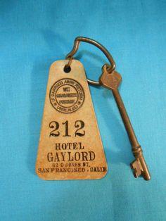 Scarce Hotel Gaylord San Francisco CA Key Fob Restaurant Bar Club Gem | eBay
