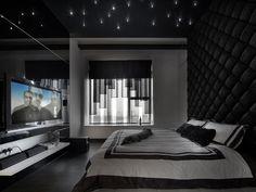 черная спальня фото