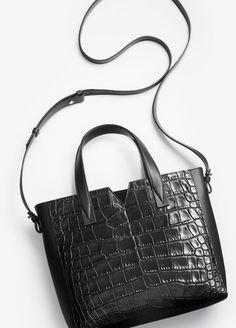Vince Signature V Crocodile Embossed Smooth Leather HANDBAG Tote DUST BAG $445 #VinceSignature #HandbagCrossBody only $222.22