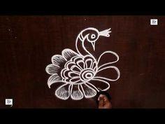 simple Kolam / rangoli Design without using Dots South Indian Rangoli, Indian Rangoli Designs, Rangoli Designs Flower, Rangoli Designs Images, Beautiful Rangoli Designs, Mehandi Designs, Free Hand Rangoli Design, Small Rangoli Design, Kolam Rangoli