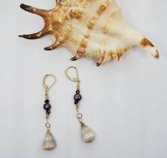 by KuuipoDesignerJewels on Etsy Shell Bracelet, Shell Jewelry, Shell Earrings, Drop Earrings, Unique Jewelry, Hawaiian Jewelry, Ruby Crystal, Small Gifts, Cute Gifts