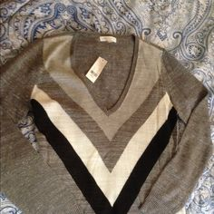 NY&C Chevron Sweater and Matching Scarf! Never worn, comes with matching scarf! (Didn't have the scarf on me while taking pictures but it matches the sweater exactly!) New York & Company Sweaters V-Necks