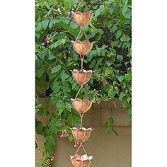 Lotus Copper Rain Chain