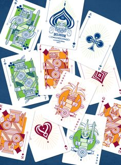 Thirdway Industries is raising funds for Delirium Playing Cards on Kickstarter! Custom illustrated poker playing cards, limited edition, printed by EPCC. Some Cards, Deck Of Cards, Cool Playing Cards, Tarot Cards, Graphic Art, Graphic Design, Board Games, Creative, Projects