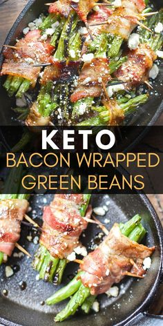 Tender green beans are wrapped in salty bacon for the ultimate low carb, gluten free, keto side dish! Tender green beans are wrapped in salty bacon for the ultimate low carb, gluten free, keto side dish! Low Carb Side Dishes, Veggie Side Dishes, Food Dishes, Gluten Free Sides Dishes, Rice Dishes, Food Food, Low Carb Keto, Low Carb Recipes, Diet Recipes