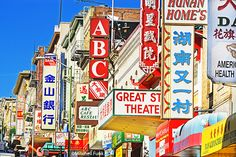 Colorful Signs In Chinatown, San Francisco  www.mitchellfunk.com