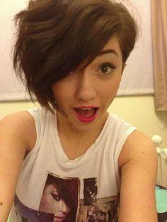 Asymmetrical Pixie Wavy Hair