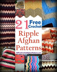 Looking for fun free ripple afghan patterns? Check out these cool projects! Each of these 21 free crochet ripple afghan patterns is unique and fun to make.