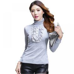2017 Autumn Winter Women Sweater Turtleneck Thick Cotton Knitted Oversized Sweater Plus Size XXXXL Women Clothing Pullovers Plus Size Stores, Plus Size Romper, Women Sleeve, Sweater Fashion, Plus Size Fashion, Curvy Fashion, Pulls, Pullover Sweaters, Turtleneck