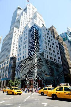 Louis Vuitton building covered in polka-dots. (Yayoi Kusama collaboration)