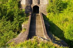 Rare view of the Fitzwilliam Gate Stepped Causeway, Dover Castle, Kent, England, UK