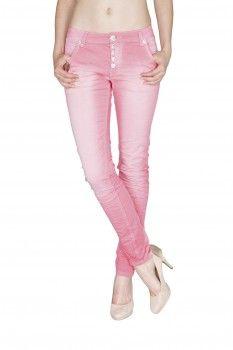 BLUE MONKEY Damen Skinny Jeans  Hope 3579 Rosa
