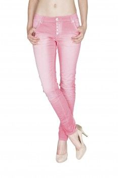 BLUE MONKEY Damen Skinny Jeans  Hope 3579 Rosa
