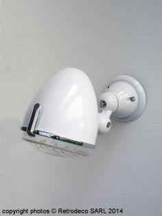 Lampes en porcelaine appliques en mail lampes industrielles - Applique porcelaine blanche ...