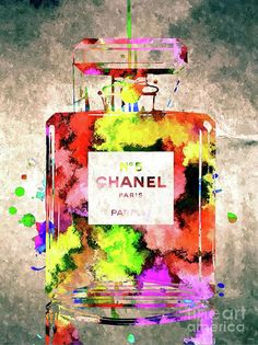 Chanel No. 5 Colored Mixed Media by Daniel Janda