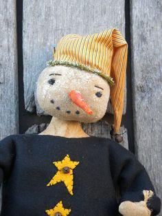 Mr Jiggs Primitive Snowman by Artbyme on Etsy, $39.99