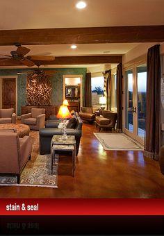 Stain and Seal, Acid Stain, Decorative Concrete - Boerne, San Antonio TX - Decorative Flooring