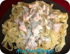 Amazing Salmon Tagliatelle Recipe (weight watchers propoints) total 9 pp salmon pasta 1 tbsp olive oil 2 tbsp fresh cream 1 tsp lemon 0 pp Shallots and chives 1 tbsp white wine Plats Weight Watchers, Weight Watchers Chicken, Weight Watchers Meals, Ww Recipes, Healthy Recipes, Weigth Watchers, Cute Food, Food Hacks, Diabetes