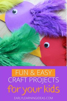 With a few materials you can make this bird color sorting and counting activity. Kids will love this hands-on math and fine motor activity. Summer Activities For Kids, Color Activities, Science For Kids, Preschool Activities, Outdoor Activities, Easy Craft Projects, Easy Crafts, Crafts For Kids, School Projects