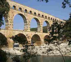 Pont du Gard Aqueduct, Nimes, Provence, France