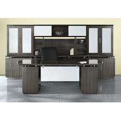 Bowfront Desk with Wall Storage - 14128 and more Lifetime Guarantee