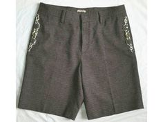 MIU MIU by PRADA ~SHARP SUITING~ EMBELLISHED JEWELED WOOL SHORTS $950 I-40 US-4 in Clothing, Shoes & Accessories, Women's Clothing, Shorts | eBay