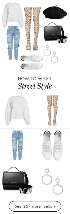 """Street Style 2"" by kainacloset93 on Polyvore featuring NLY Trend, Leg Avenue, Prada, Givenchy and Forever 21"