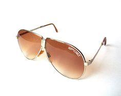Pair of Vintage Folding Aviator Sunglasses Fold Up